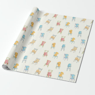 Bears On Chairs Pattern Wrapping Paper