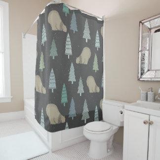 Bears, pine tree pattern - Christmas gifts Shower Curtain