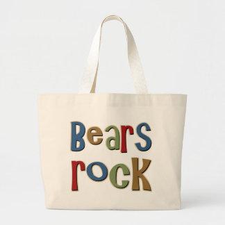 Bears Rock Tote Bags