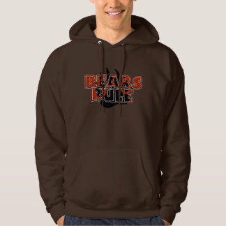 Bears Rule Brown on Black Paw HOT LOOKING Hoodie