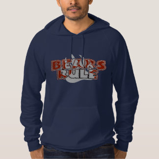 Bears Rule Brown on Silver Paw - HOT ! NAVY Hoodie