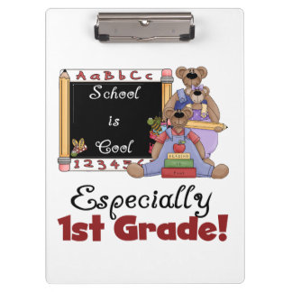 Bears School is Cool 1st Grade Clipboard