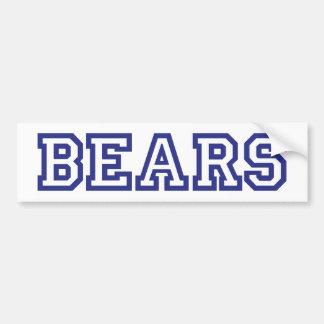 Bears  square logo in blue bumper sticker