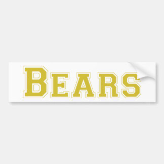 Bears square logo in gold bumper sticker
