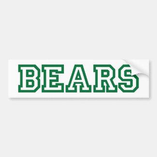 Bears square logo in green bumper stickers