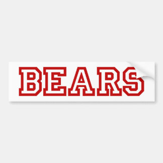 Bears  square logo in red bumper stickers