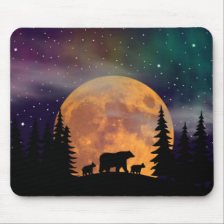 Bears stroll - Silhouette Mouse Pad