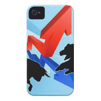Bears Versus Bulls Stock Market Concept iPhone 4 Cases