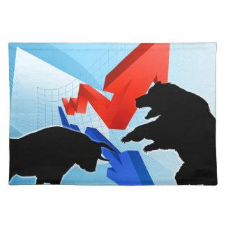 Bears Versus Bulls Stock Market Concept Placemat