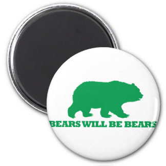 Bears Will Be Bears 6 Cm Round Magnet
