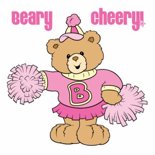 Beary Cheery Cheerleading Bear Photo Cut Out