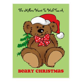 Beary Christmas Postcard