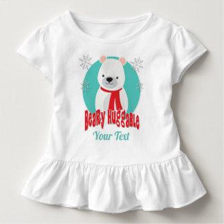 Beary Huggable Winter Christmas Bear Personalized Toddler T-Shirt