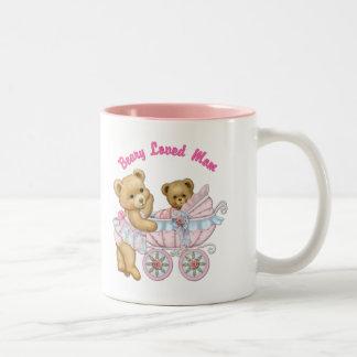 Beary Loved Mom Two-Tone Coffee Mug