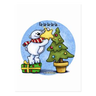 Beary Merry Christmas Card Postcard