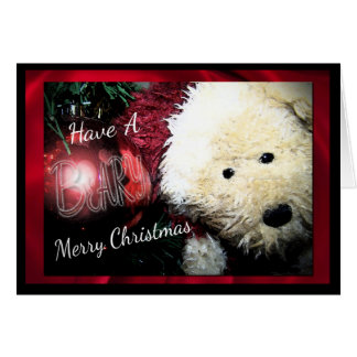 Beary Merry Christmas Cards