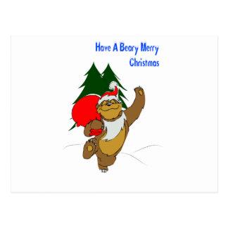 Beary Merry Christmas Postcard