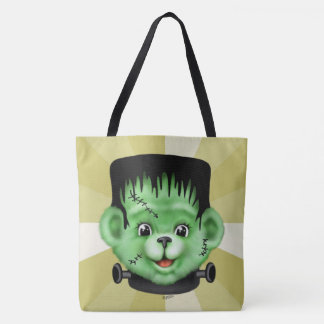 BEARY SCARY MONSTER All-Over-Print Tote Bag Large