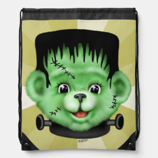 BEARY SCARY MONSTER CARTOON Drawstring Backpack