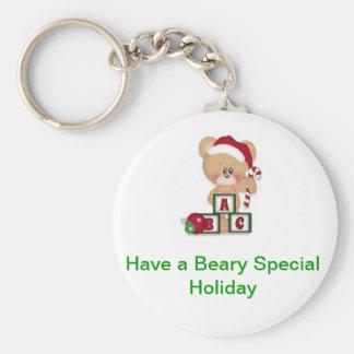 Beary Special Holiday Key Ring