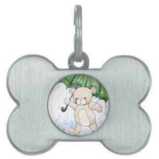 Beary wet teddy pet ID tag