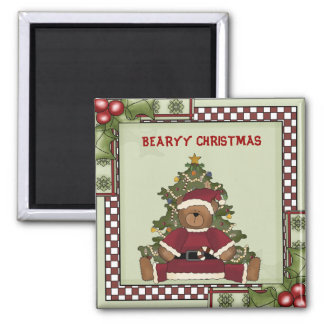 BEARYY CHRISTMAS SQUARE MAGNET