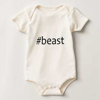 beast- black baby bodysuit
