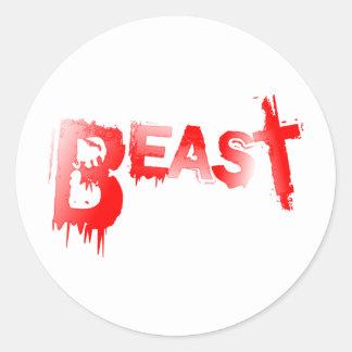 Beast Classic Round Sticker