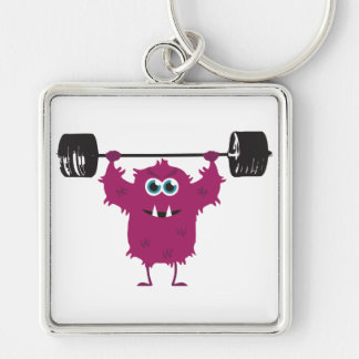 Beast Mode - Cute Monster Lifting Weights Key Chains