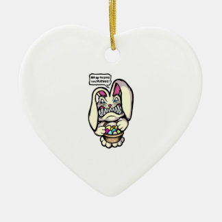 Beaster Bunny Ceramic Ornament