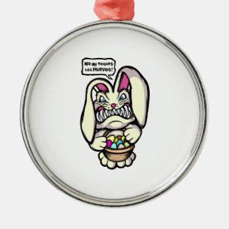 Beaster Bunny Metal Ornament