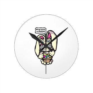 Beaster Bunny Round Clock