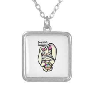 Beaster Bunny Silver Plated Necklace