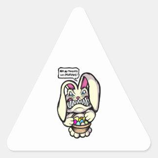 Beaster Bunny Triangle Sticker