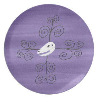 Beastie Skull Flourish Plate