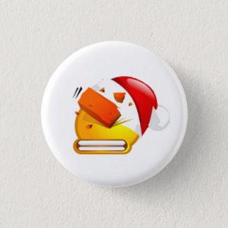 beat brick christmas face 3 cm round badge