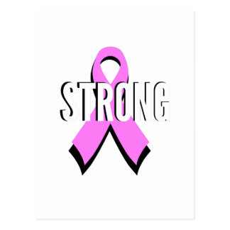 Beat Cancer- Strong Breast Cancer Pink Ribbon Postcard