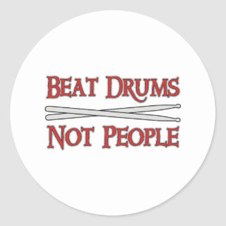 Beat Drums Classic Round Sticker