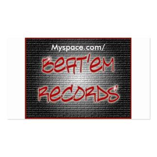 Beat em Records Card Business Card Templates