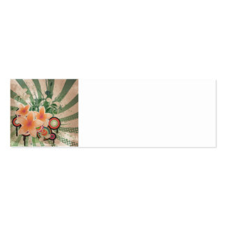 Beat Flowers Double-Sided Mini Business Cards (Pack Of 20)
