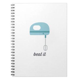 Beat It   Blue Kitchen Beater Note Books