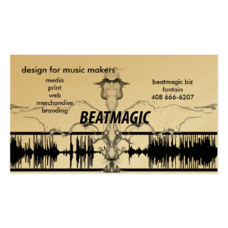beat magic biz cards pack of standard business cards