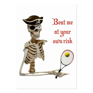 Beat Me Tennis Pirate Business Card