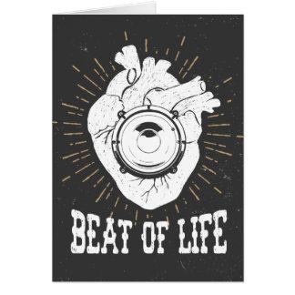 Beat Of Life Greeting Card
