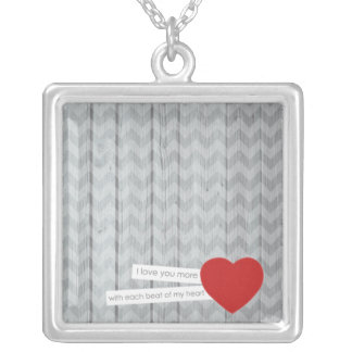 Beat of my Heart Square Necklace
