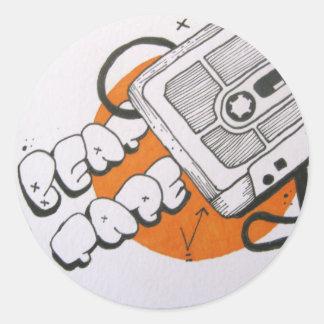 Beat tape sticker