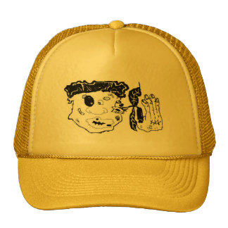 beat up graphic art cap