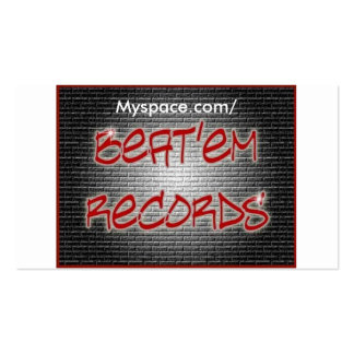 Beat'em Records Card Pack Of Standard Business Cards