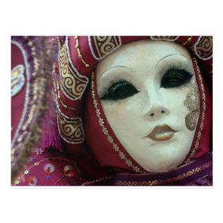 beatiful mask of  Venice Postcard