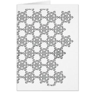 Beatiful Snowflake Pattern Card